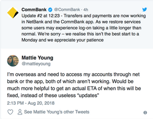 Commbank IT failure Crisis