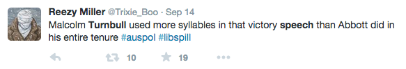 Crisis Communications #libspill tweets