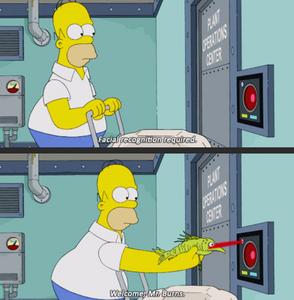 Homer Simpson facial recognition