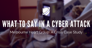 What to say in a cyber attack