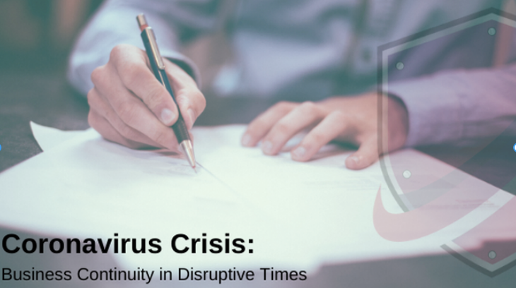 Coronavirus Crisis: Business Continuity in Disruptive Times