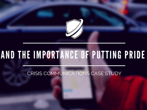 Crisis Case Study: UBER and the importance of putting pride aside