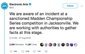 EA Sports response to shooting