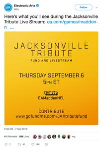 EA Jacksonville Shooting tribute live stream