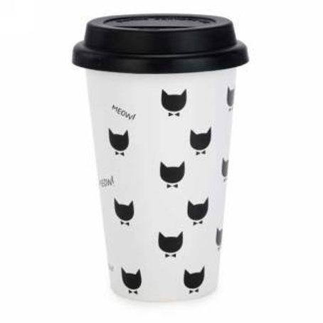 Tasse de transport en céramique Meow meow