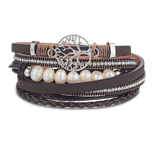Bracelet Arbre de la vie brun