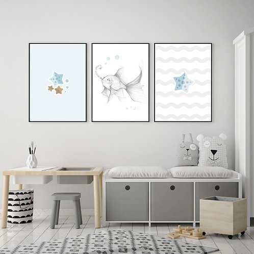 Trio d'affiches 11' x 14''