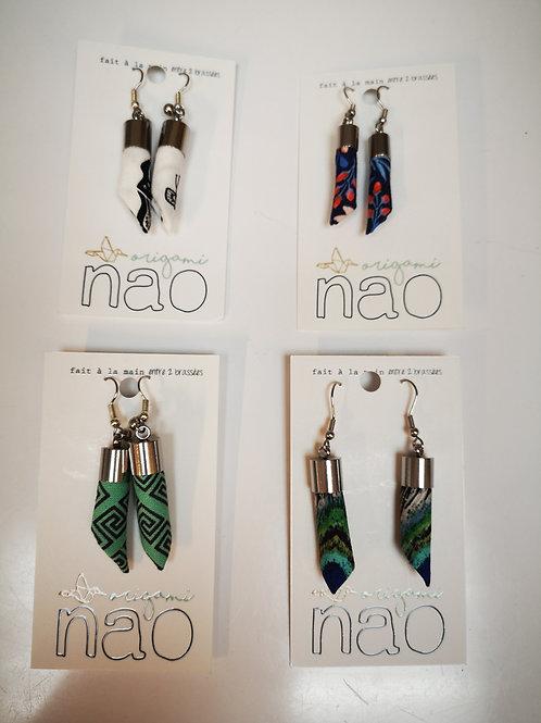 Boucles d'oreilles Nao tubes