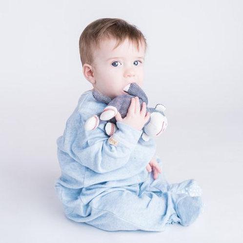 Pyjama de coton bio bleu