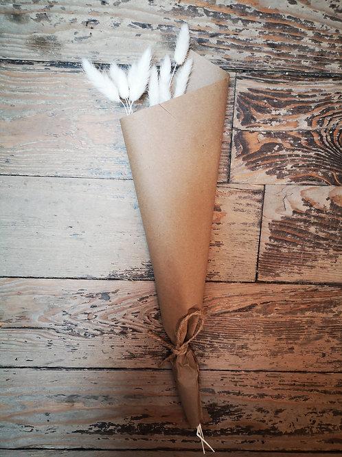 Bouquet de fleurs séchées - Lagurus blanc (queues de lapin)