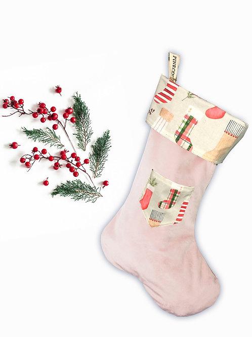 Bas de Noël - Rose Chaussettes