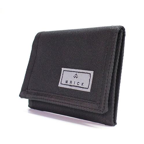 Portefeuille en tissu noir ou gris