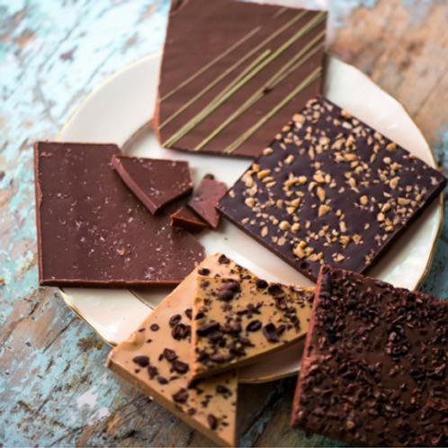 Tablette de chocolat gourmande, saveurs variées