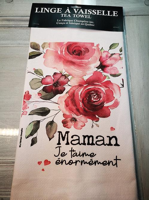 Linge à vaisselle ''Maman''