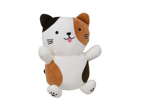 Peluche chat 3 couleurs 25 cm