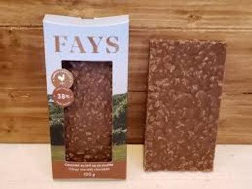 Tablette de chocolat au riz soufflé