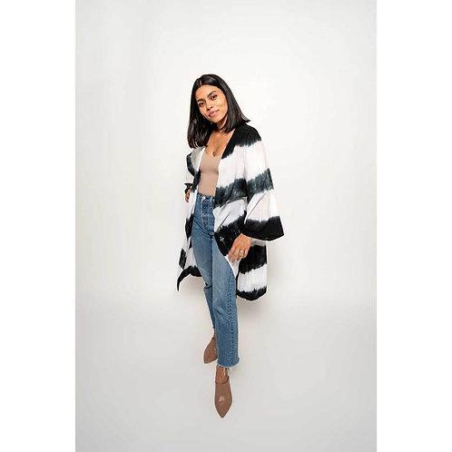 Kimono BW Stripe