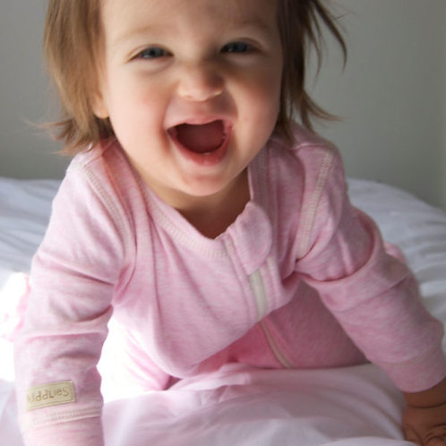 Pyjama de coton bio rose