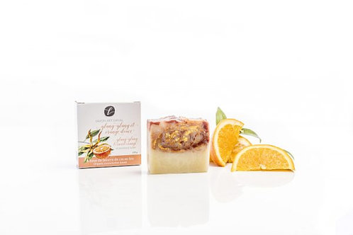 Savon artisanal Ylang-Ylang et orange douce