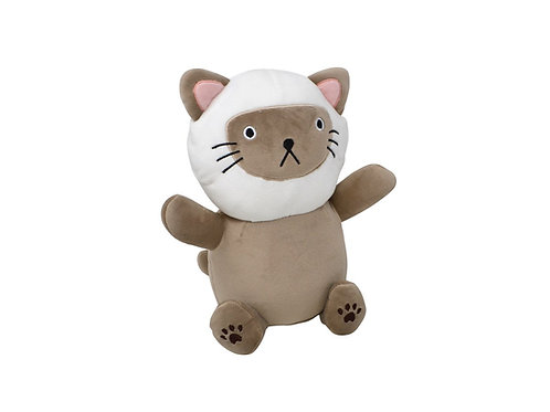 Peluche chat 2 couleurs 25 cm