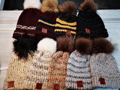 Tuque de laine adulte avec pompon