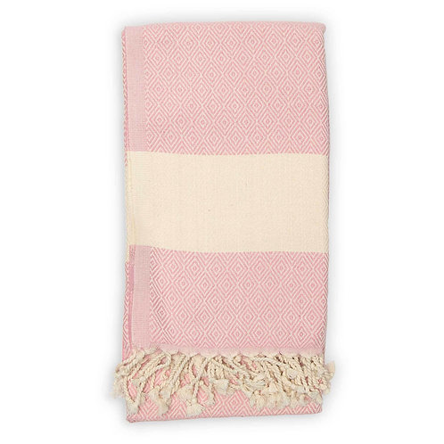 Serviette turque Diamond Light Pink