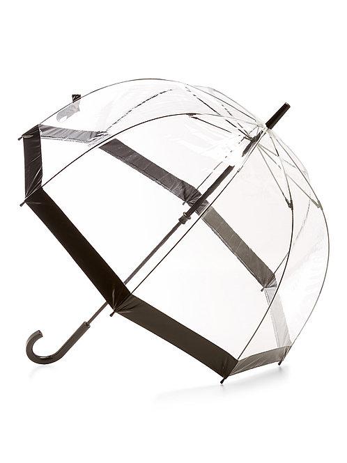 Parapluie translucide avec bande noire