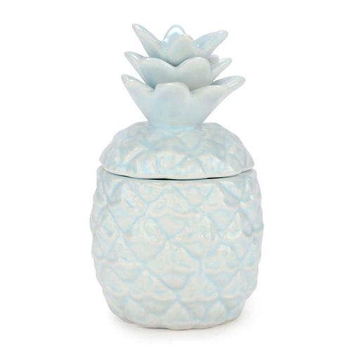 Bougie en céramique ananas bleu