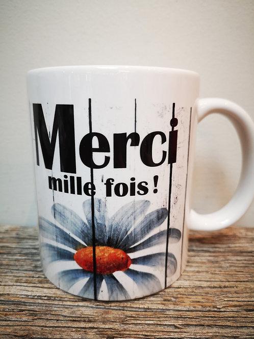 """Tasse """"Merci mille fois"""""""
