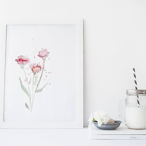 Affiche trio bouquet