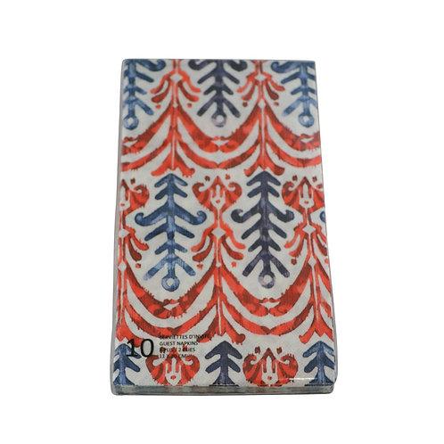 Serviettes de table Rouge et bleu (paquet de 10)