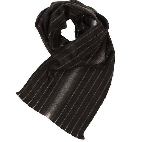 Foulard de laine d'alpaga Black Pinstripe
