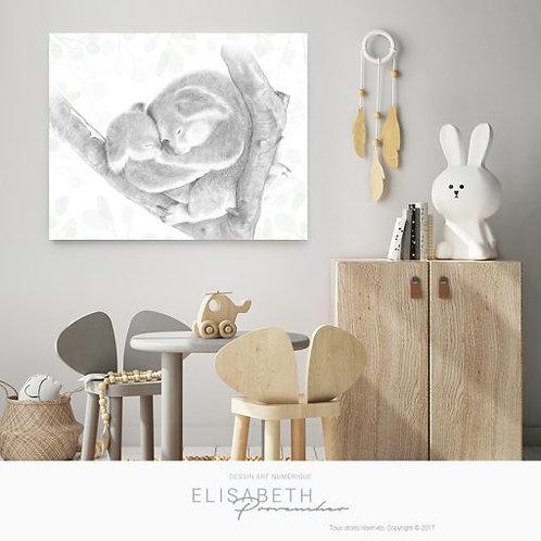 Affiche 16'' x 20'' Koala mon amour