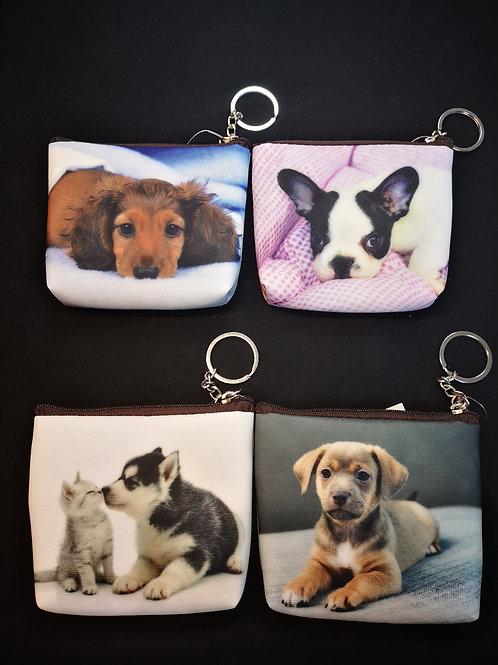 Porte-monnaie en tissu animaux