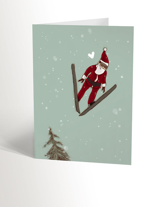 Carte Père Noël jump