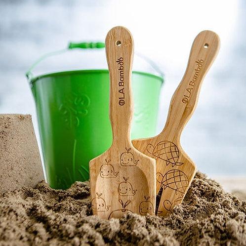 Trio de jouets pour la plage en bambou