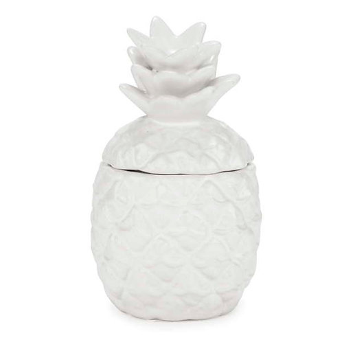 Bougie en céramique ananas blanc