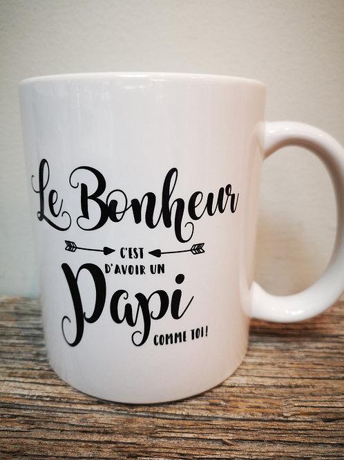 "Tasse ""Le bonheur papi"""