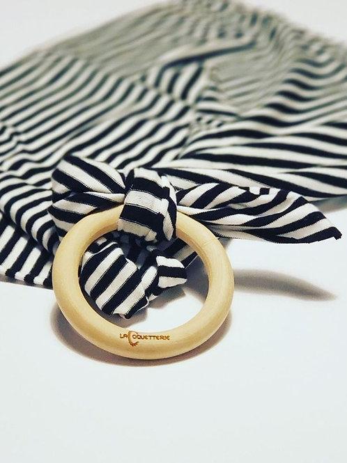 Anneau-doudou noir et blanc