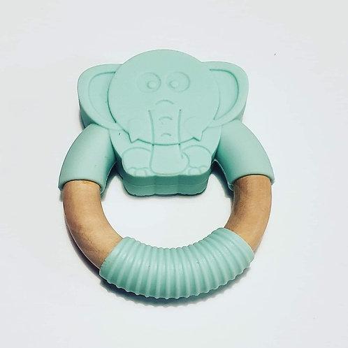 Jouet de dentition éléphant turquoise