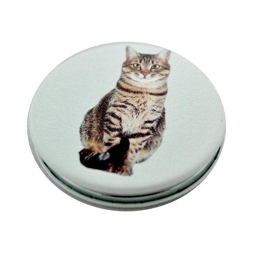 Miroir de poche chat tigré