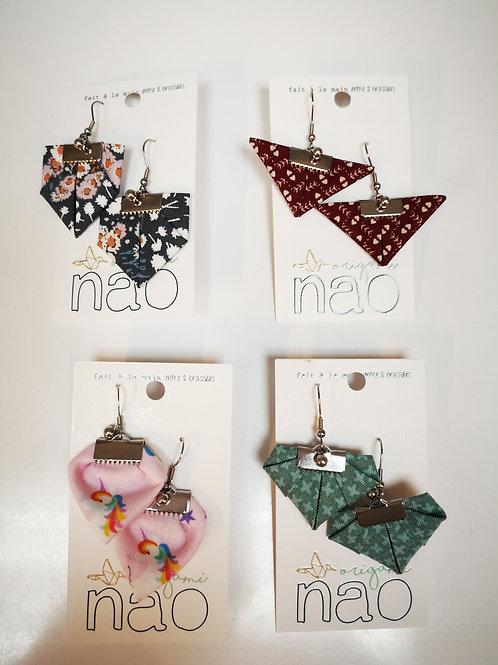 Boucles d'oreilles Nao origami