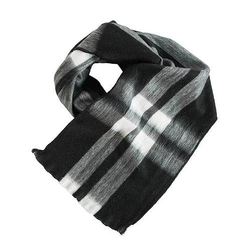 Foulard de laine d'alpaga Ink Tartan