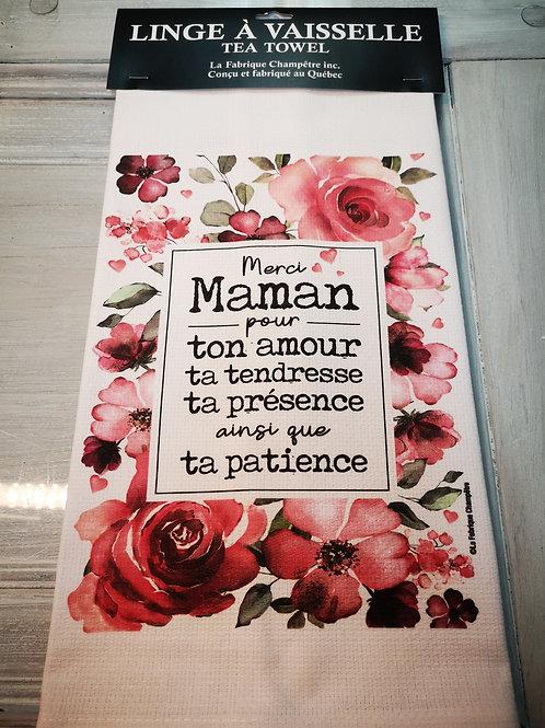 Linge à vaisselle ''Merci maman''