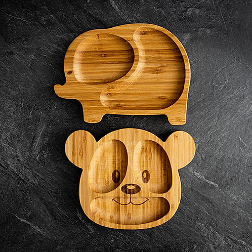 Assiette en bambou avec base à succion