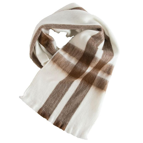 Foulard de laine d'alpaga Diamond Tartan