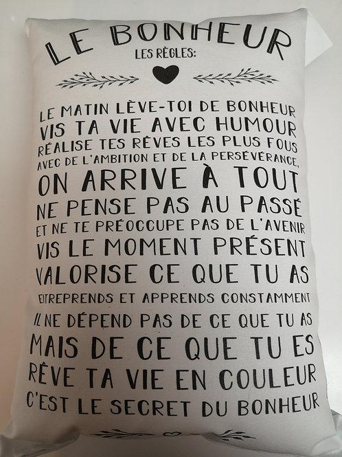 Coussin ''Le bonheur''