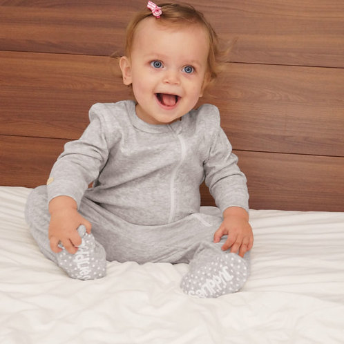 Pyjama de coton bio gris