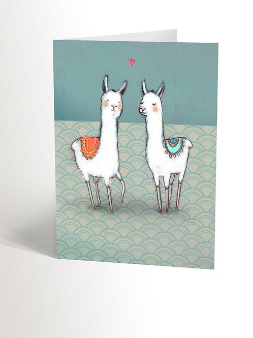 Carte Lamas amoureux
