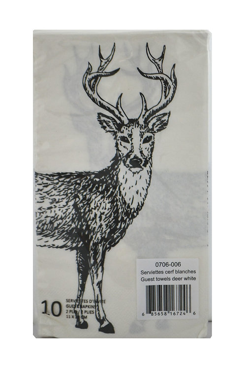 Serviettes de table Cerf (paquet de 10)